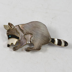 1960s Raccoon Pin and Pendant
