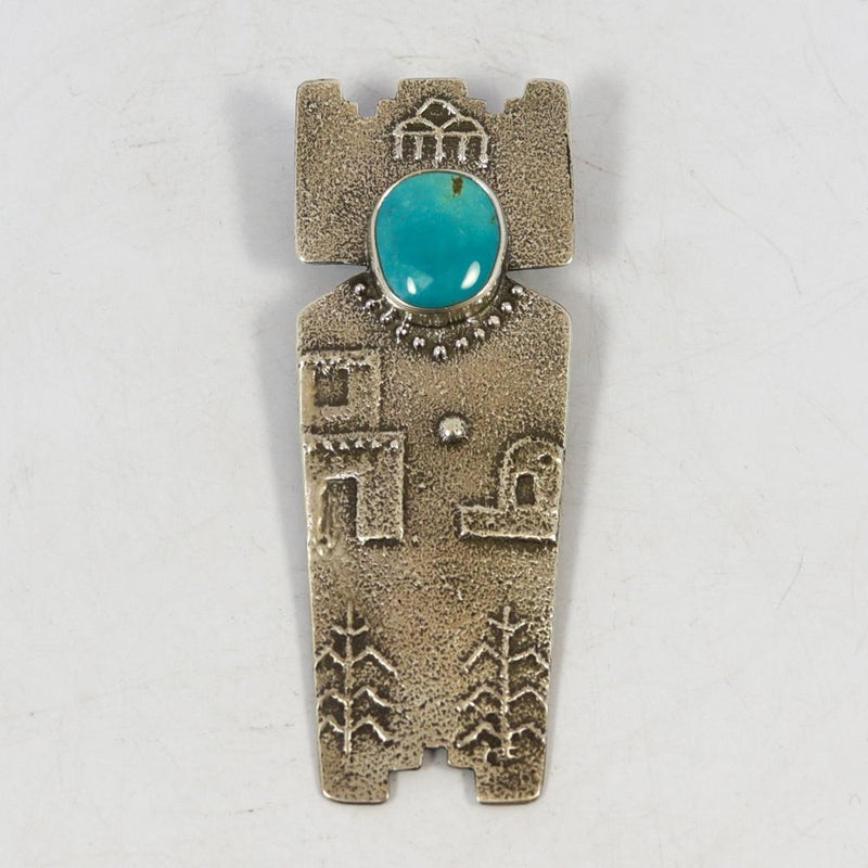 Turquoise Pin and Pendant