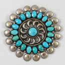 1960s Sleeping Beauty Turquoise Pin