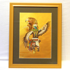 Hopi Eagle Kachina Painting, Richard Gorman, More, Garland's Indian Jewelry
