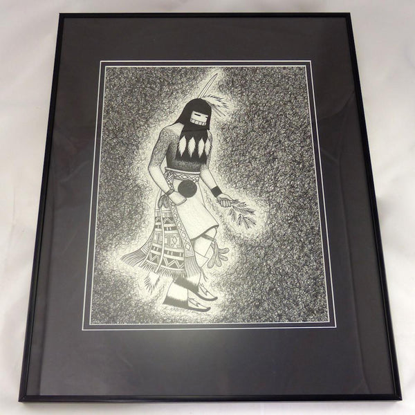 Longhair Kachina Ink Painting - More - Ed Kabotie - 1