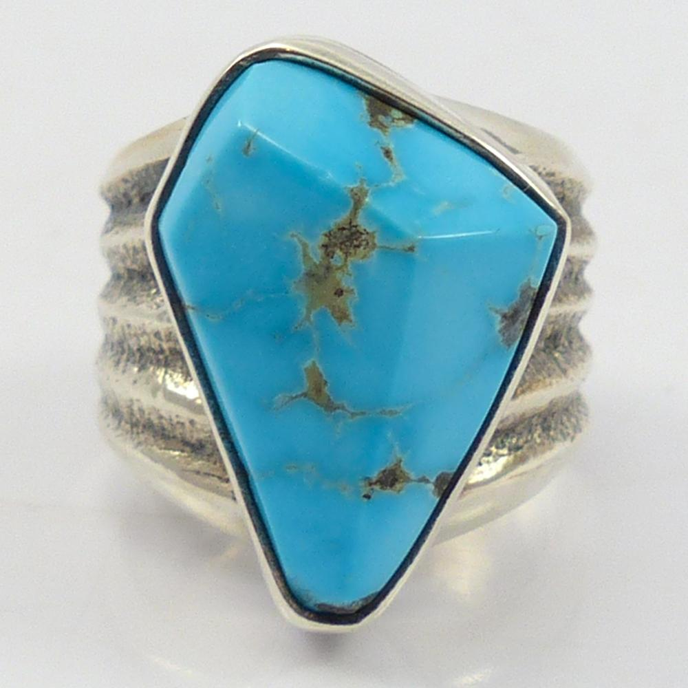 Silver Bell Turquoise Ring
