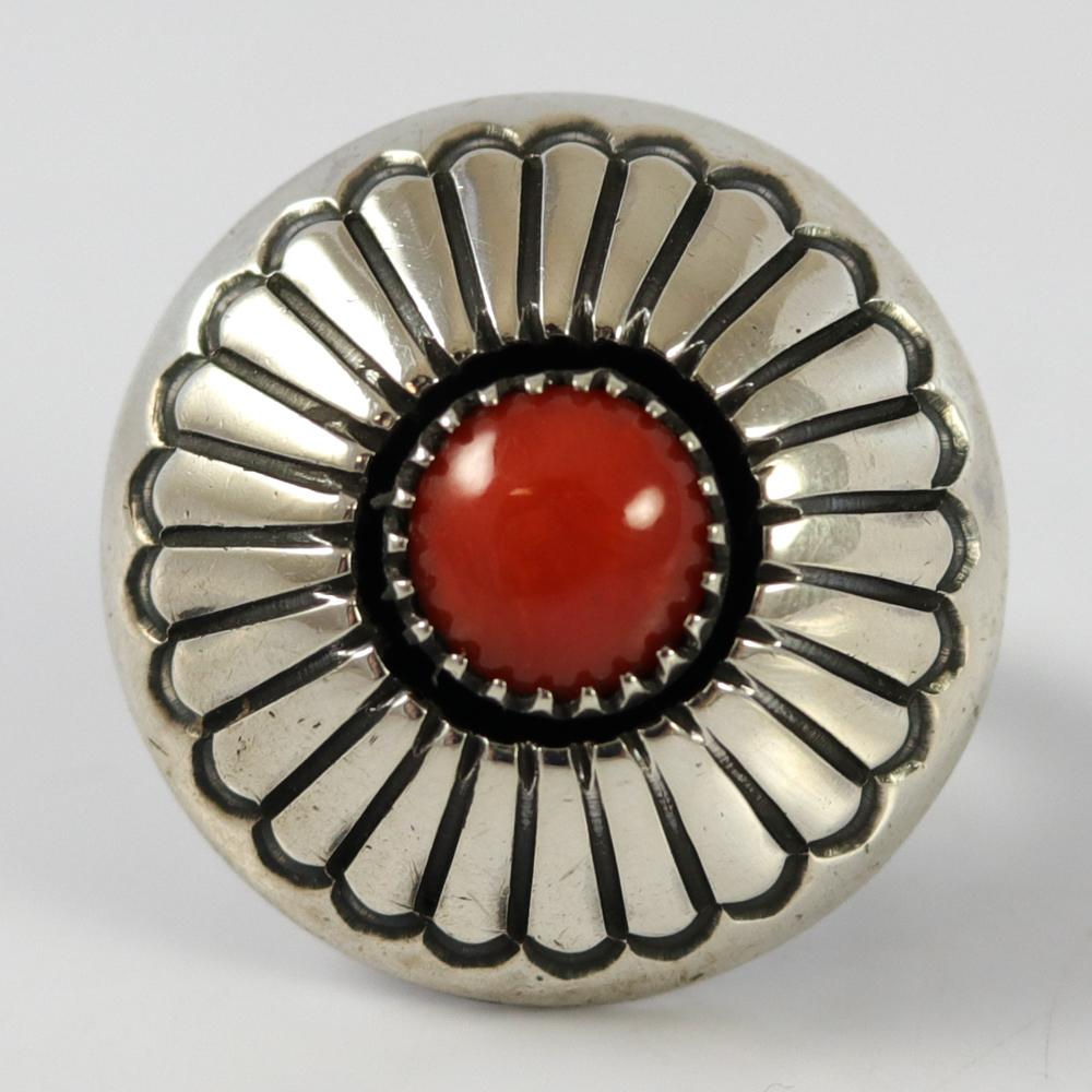 1980s Coral Ring