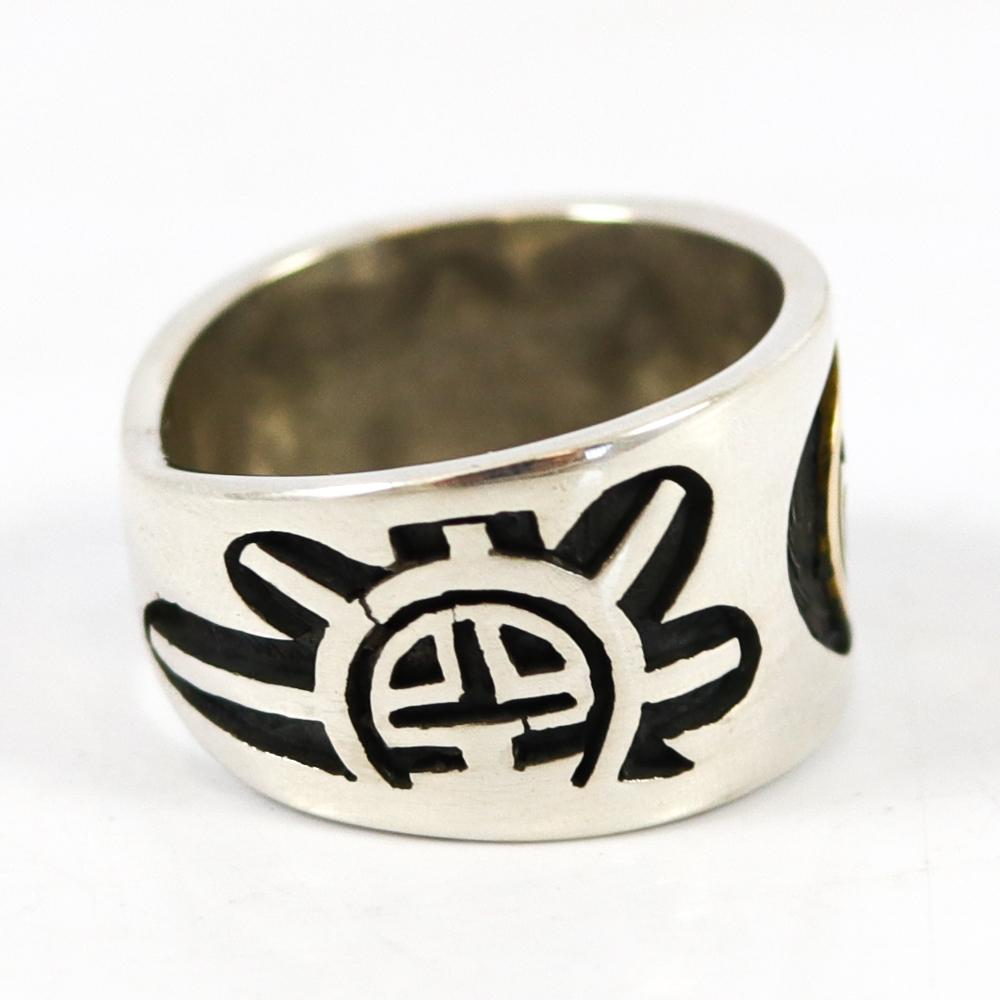 "Gold on Silver ""Man in the Maze"" Ring"