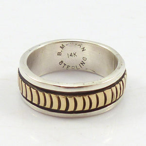 Gold on Silver Ring