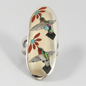 Hummingbird Inlay Ring