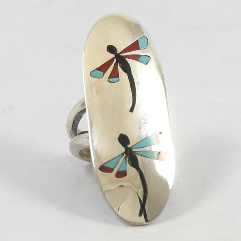 Dragonfly Inlay Ring