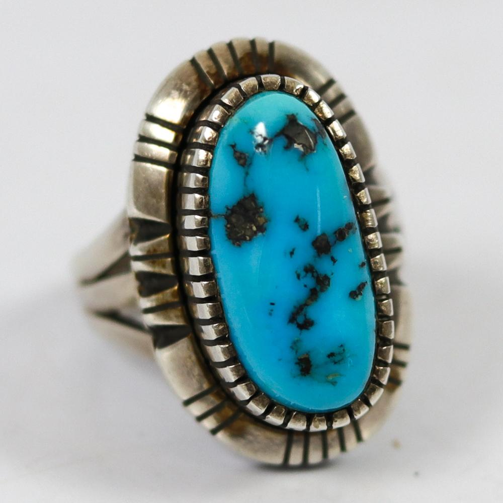 1980s Morenci Turquoise Ring