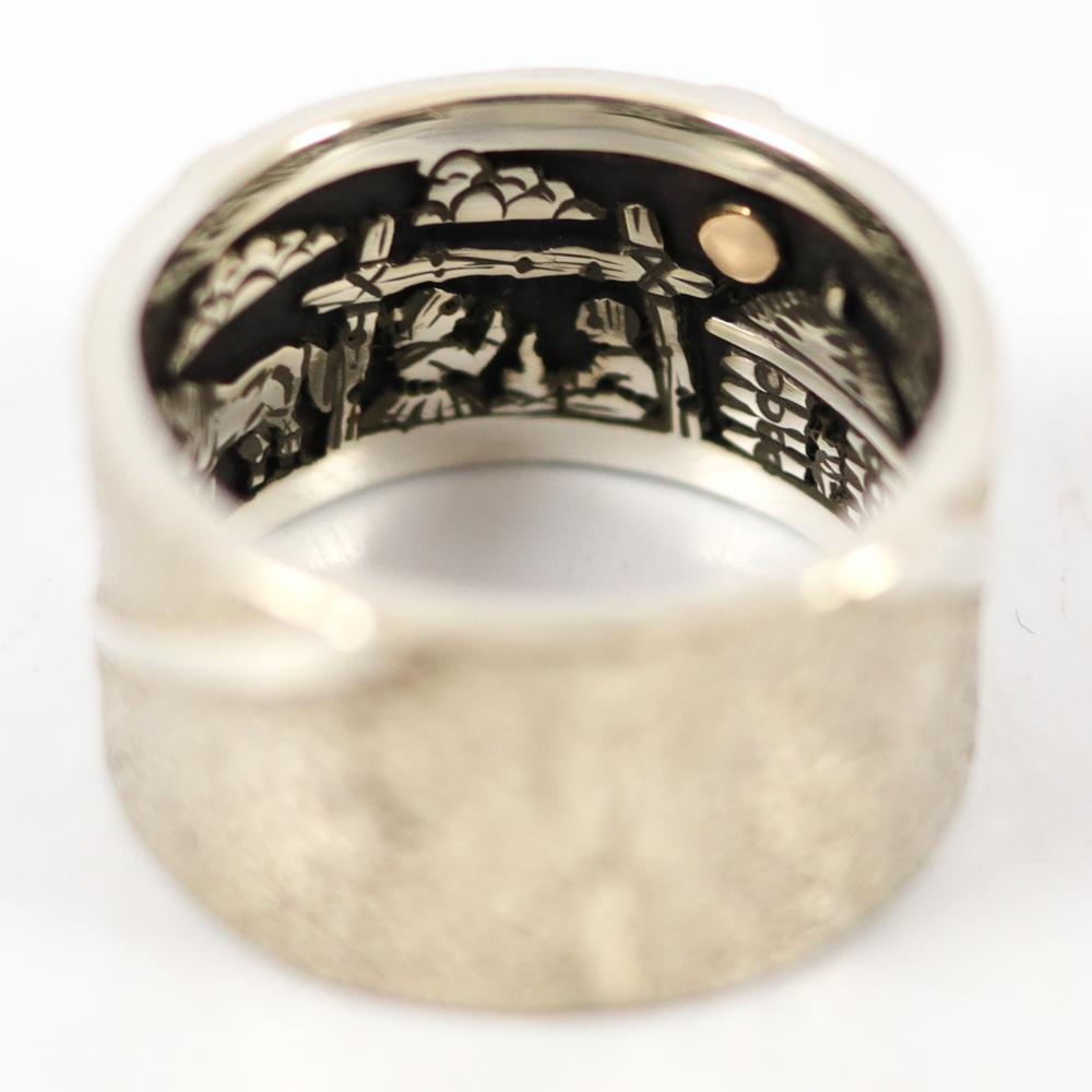 Gold on Silver Inner Beauty Ring