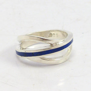 Lapis Braid Ring