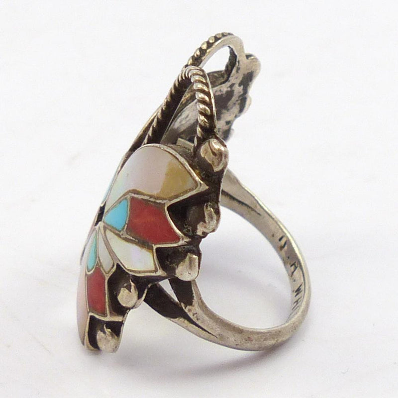 1970s Mosaic Inlay Ring