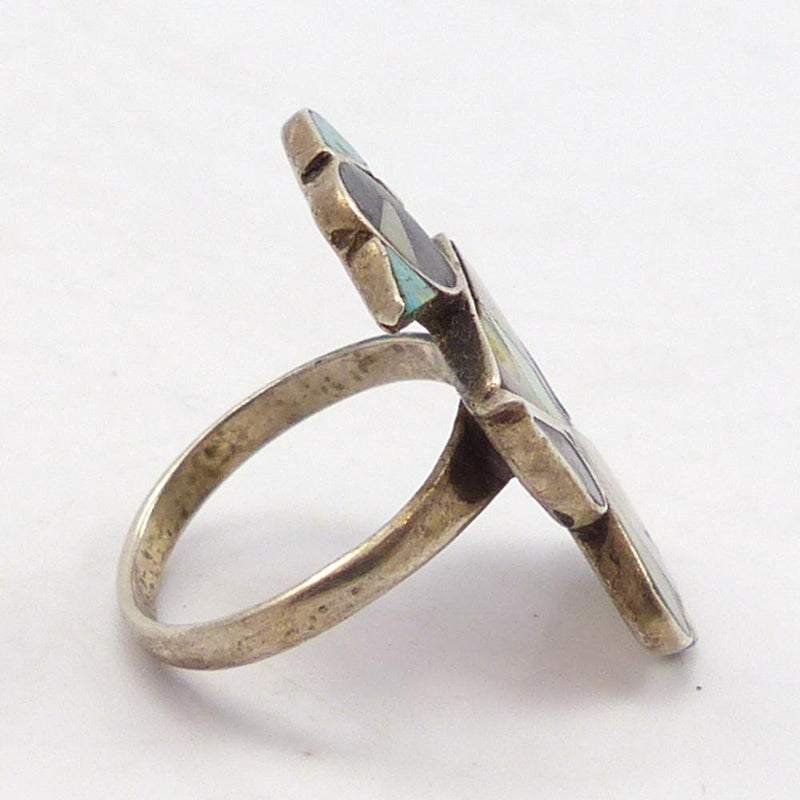 1970s Multi-stone Inlay Ring
