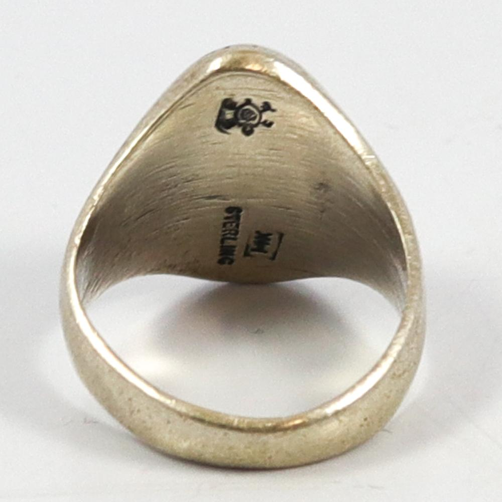 Silver on Gold Ring