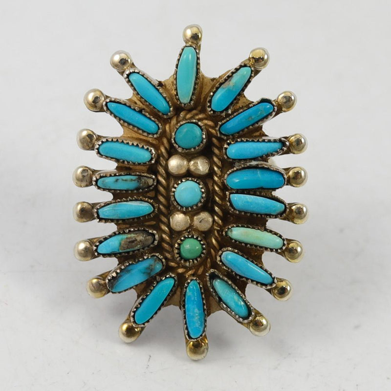 Needlepoint Turquoise Ring