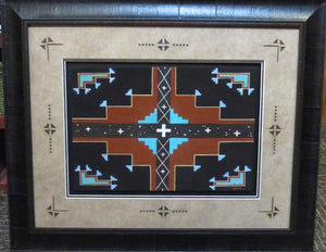 Framed Sandpainting - More - Zach Ben - 1