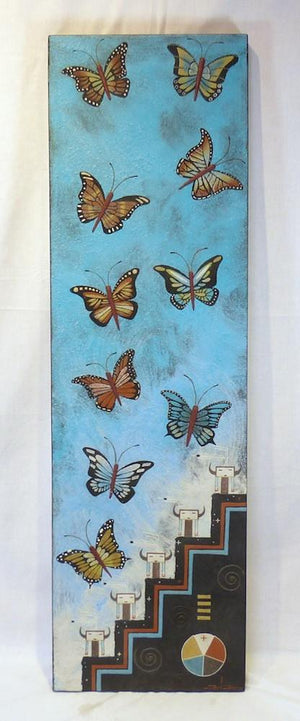 """Butterfly Migration"" Sandpainting - More - Joe Ben Jr. - 1"