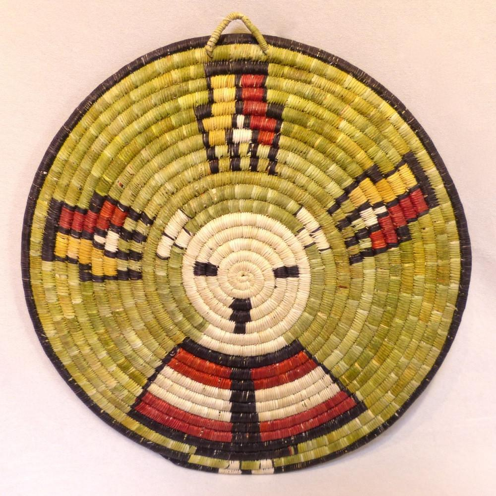 Hopi Coil Plaque - Baskets - Beatrice Dawahoya - 1