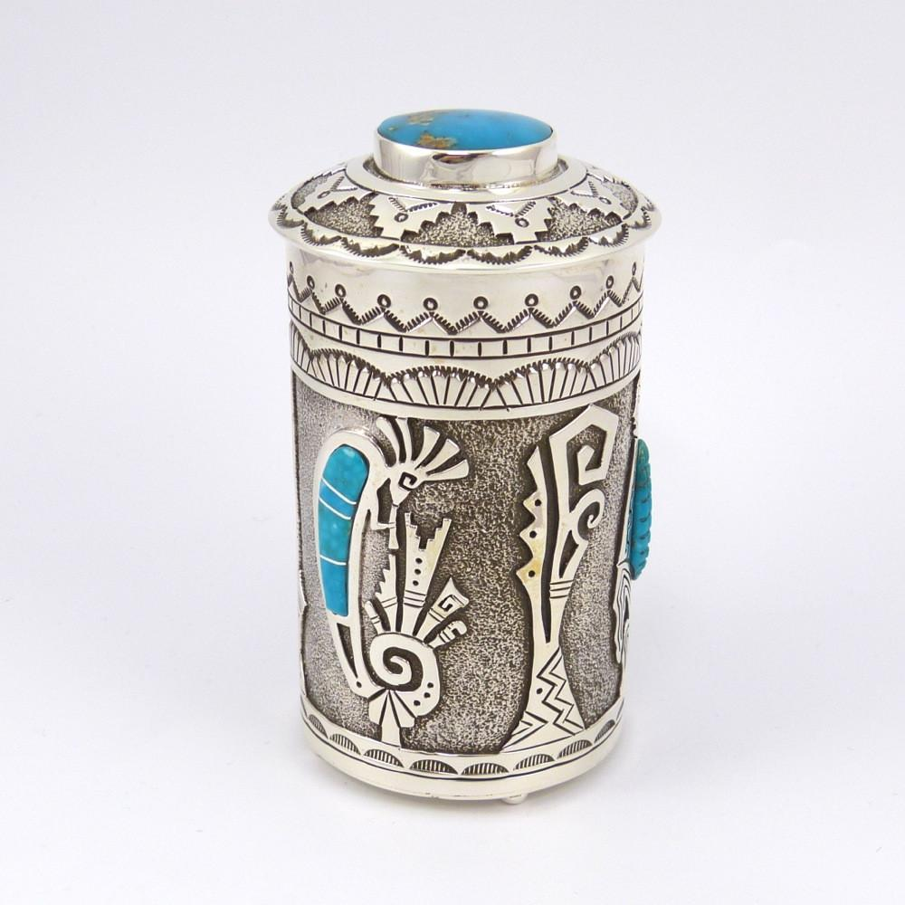 Silver Box with Bisbee and Kingman Turquoise - Jewelry - Sam Gray - 1