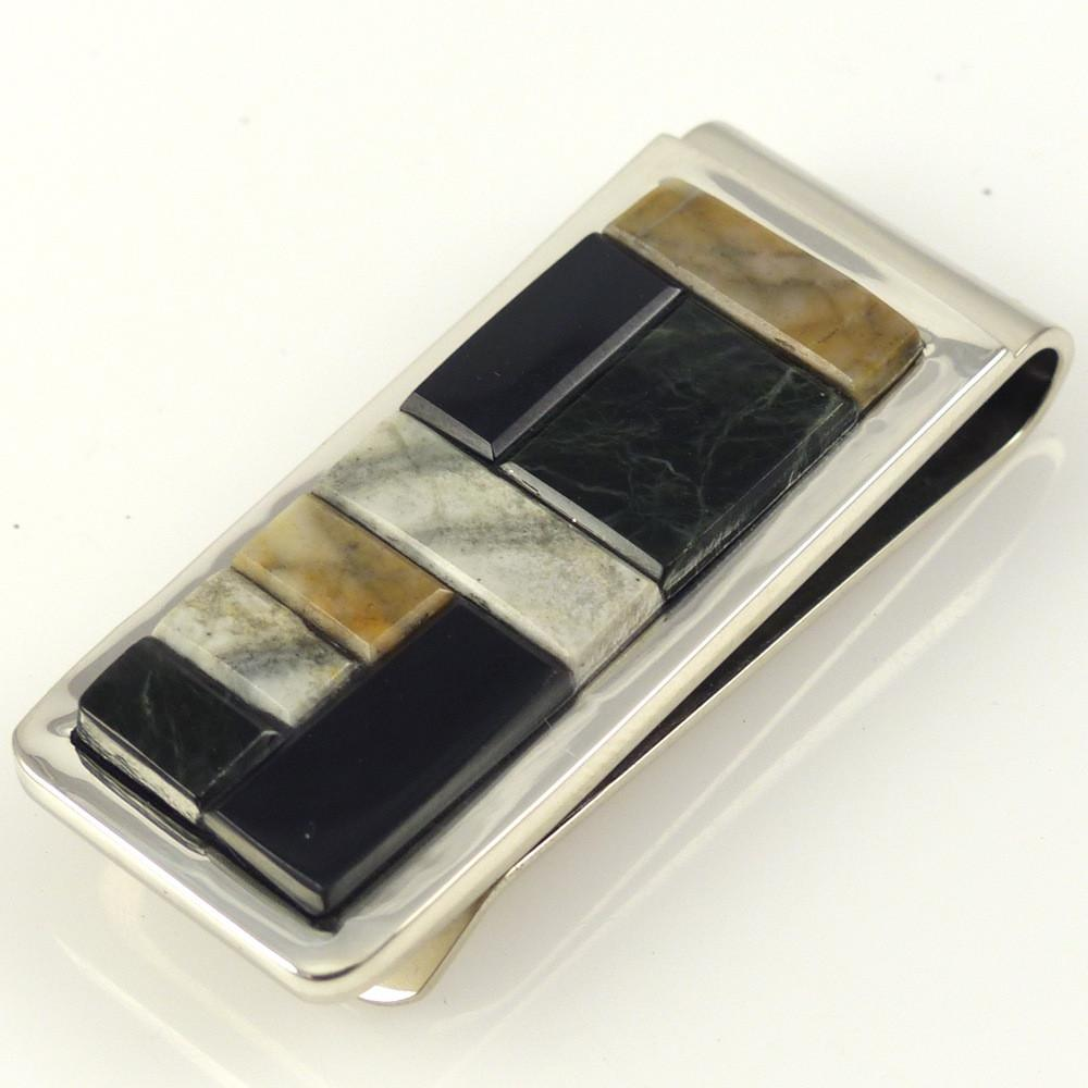 Cobbled Inlay Money Clip - Jewelry - Tommy Jackson - 1
