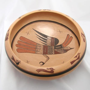 Sityatki-Style Bird Open Fruit Bowl - Pottery - Jean Sahmie - 1