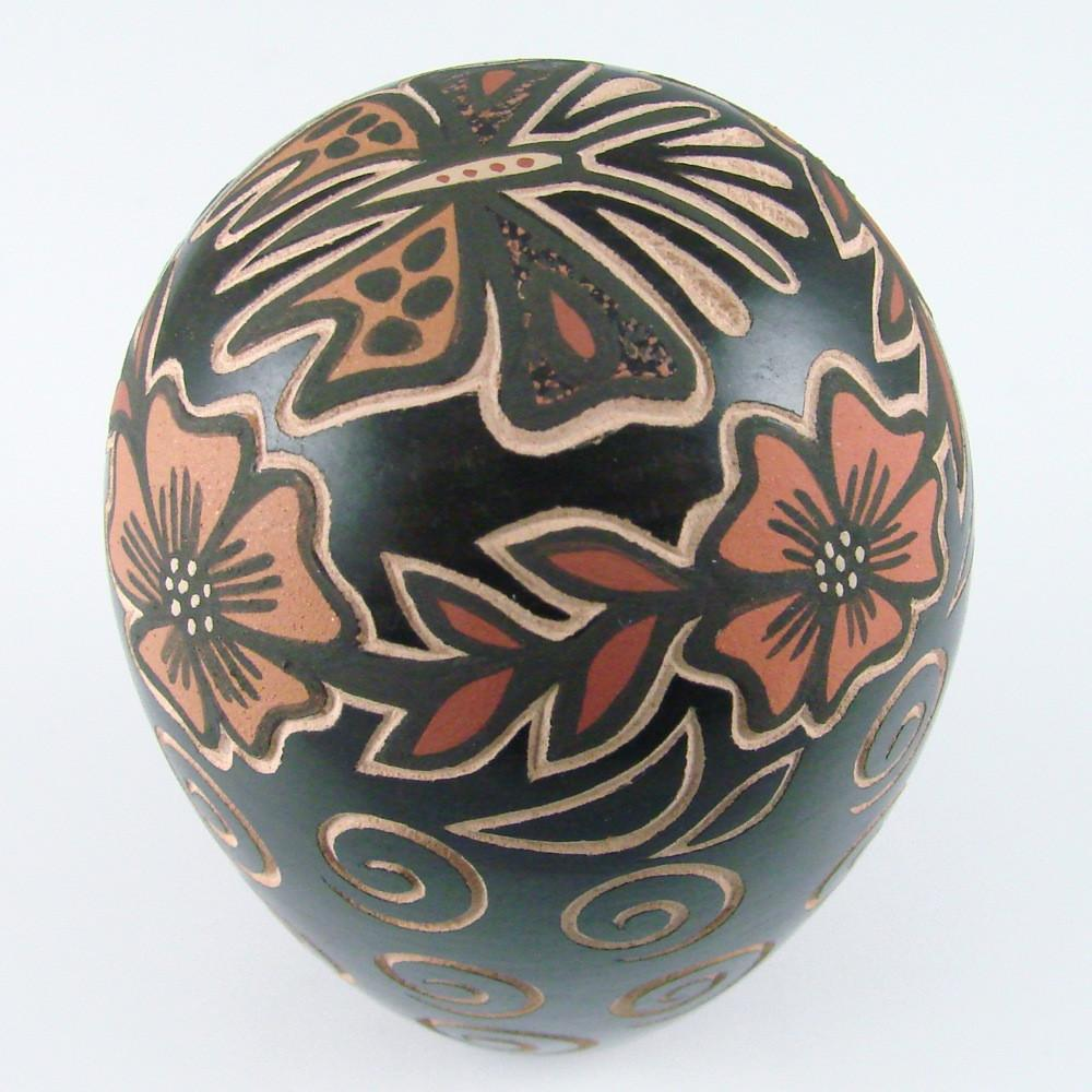 Handcoiled Seed Jar with Butterfly Design - Pottery - Glendora Fragua - 1