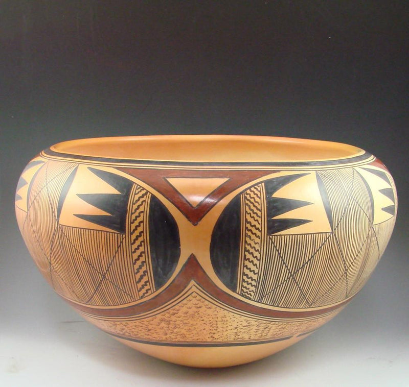 Hopi Bowl with Batwing and Migration Patterns - Pottery - Jean Sahmie - 3