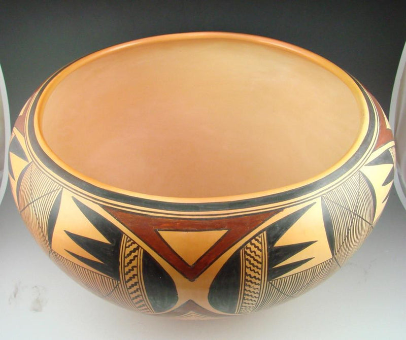 Hopi Bowl with Batwing and Migration Patterns - Pottery - Jean Sahmie - 5