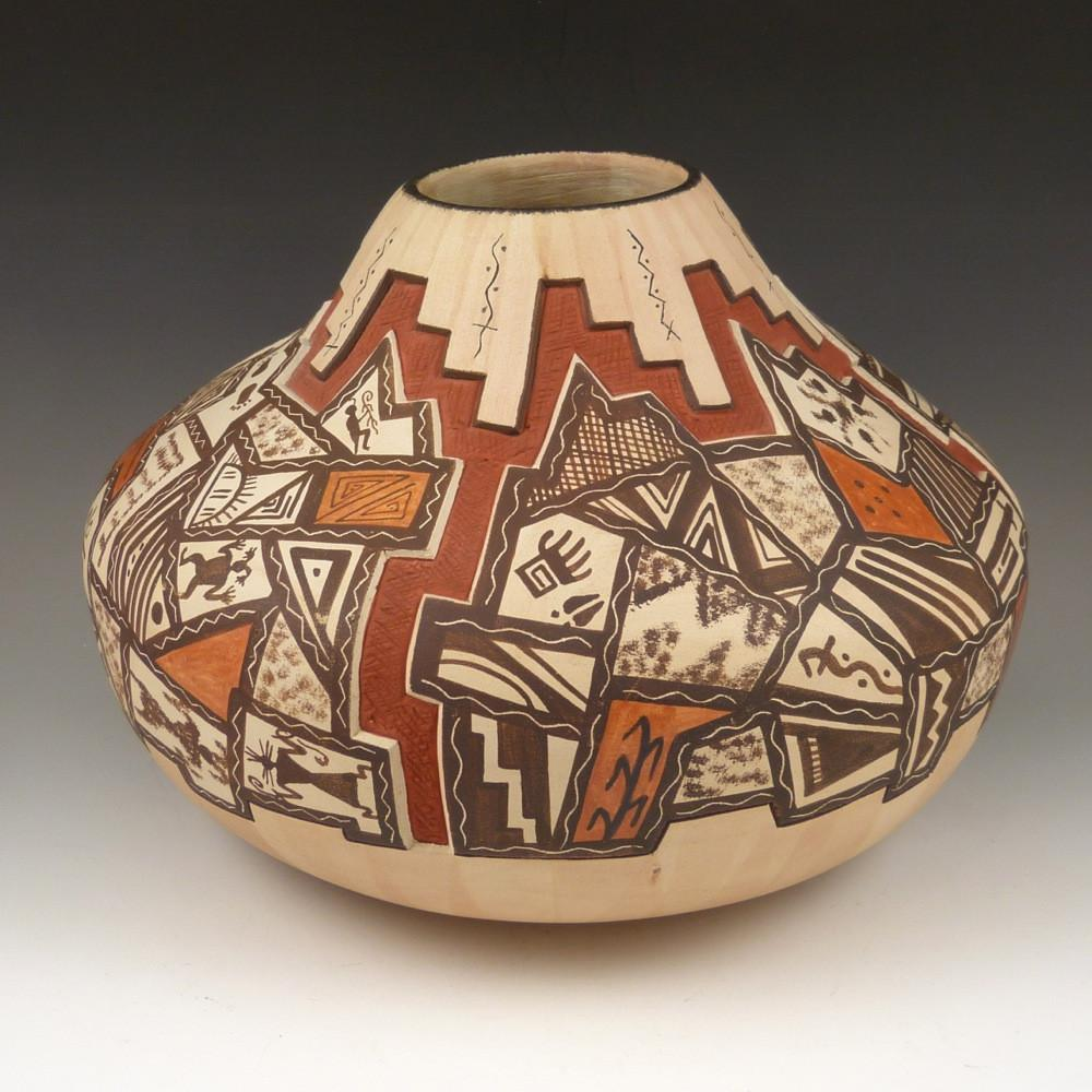 """My Roots"" Hopi Jar - Pottery - Lawrence Namoki - 1"