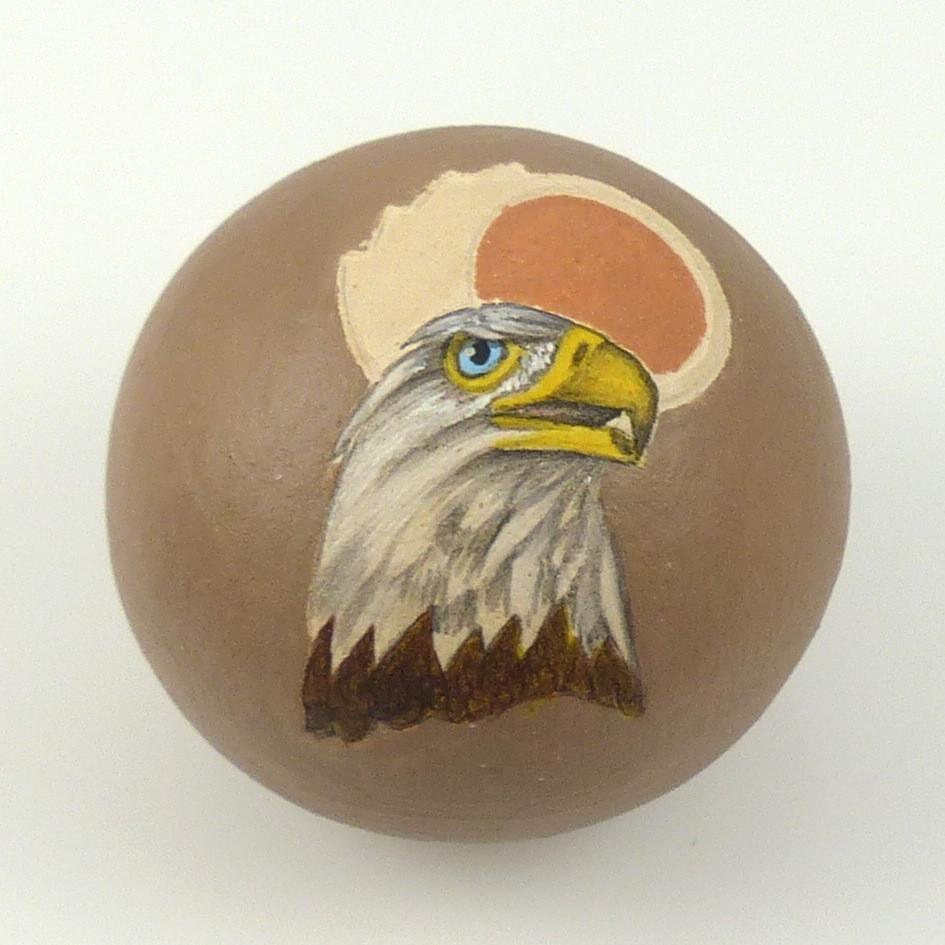 Eagle and Sun Seed Jar - Pottery - Wallace Nez - 1