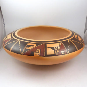 Large Hopi Bowl - Pottery - Charles Navasie - 1