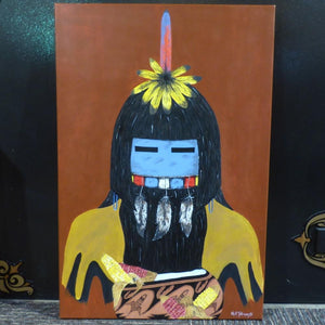 Longhair Kachina Painting - More - Gus Tallman - 1