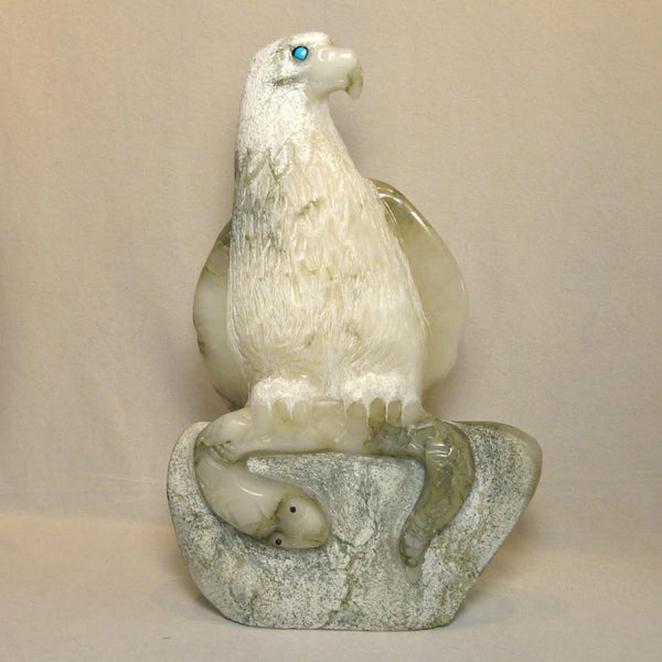 Alabaster Eagle Sculpture - More - Bear Romero