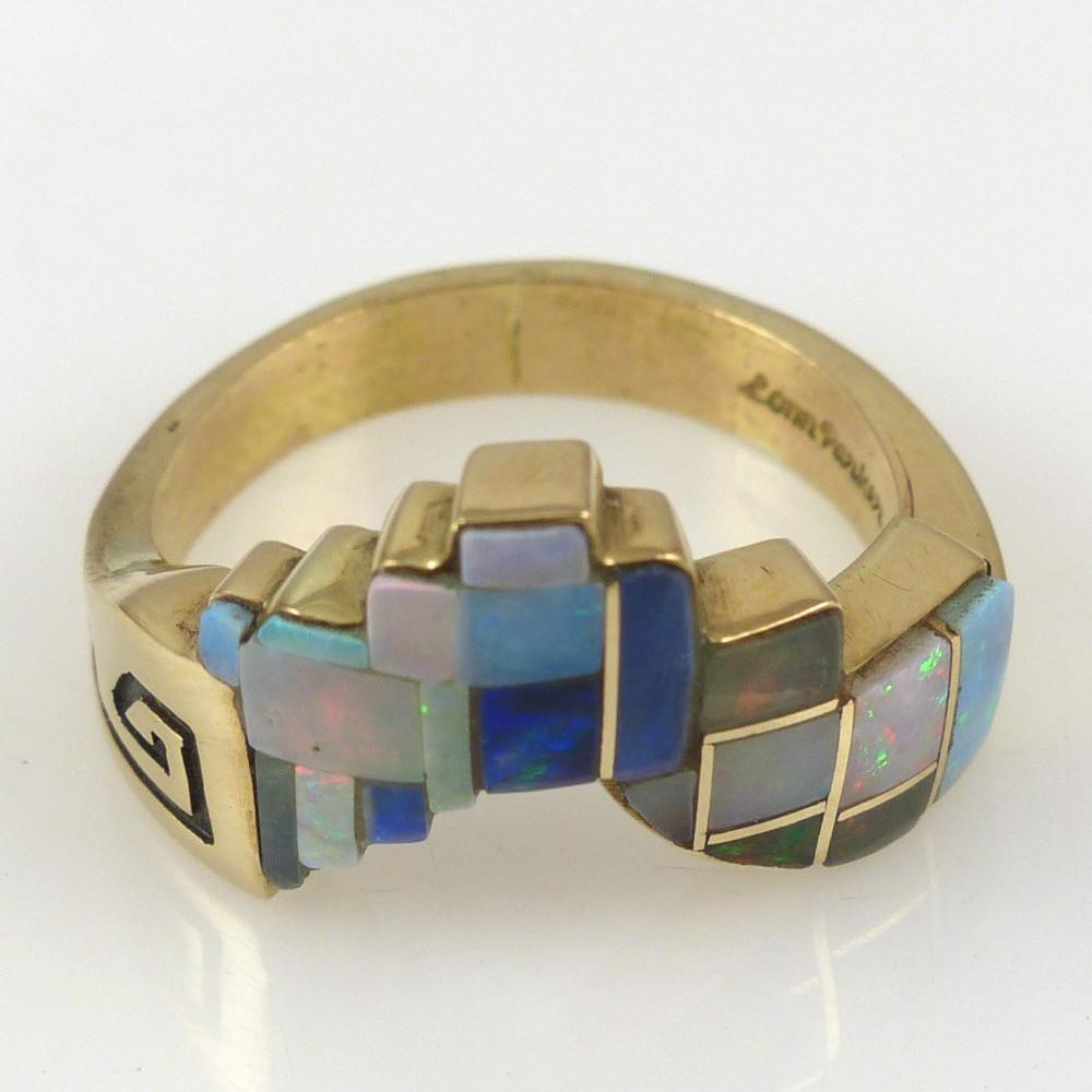 Gold Ring with Opal - Jewelry - Lonn Parker - 1