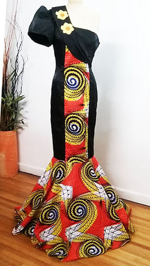 Afrocentric evening gown