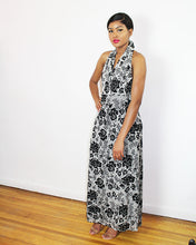 Load image into Gallery viewer, ADELE- FLORAL  HALTER MAXI DRESS