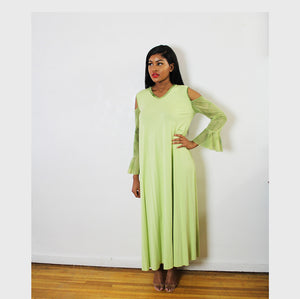 ALISSA - COLD SHOULDER MAXI DRESS