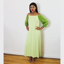 Load image into Gallery viewer, Off-shoulder raglan sleeve dress