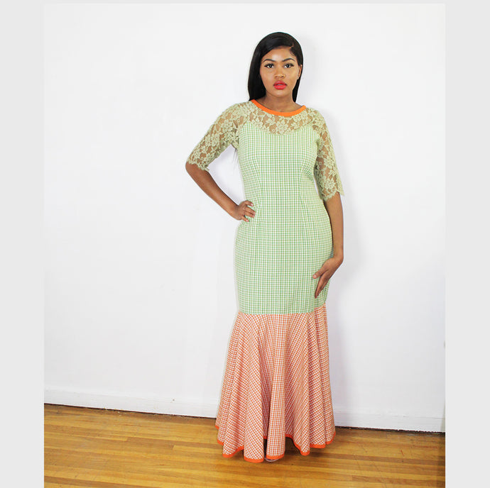 Lordana Mixed Color Cocktail Maxi Dress
