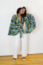 Load image into Gallery viewer, FATOU -  CAMOUFLAGE COLD SHOULDER CROP JACKET