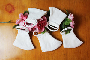 Nora White Linen Face Mask