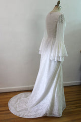 Lorna- Off White V-Shape Neack Lace Bridal Gown