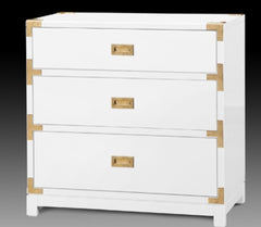White and Gold Campaign Dresser