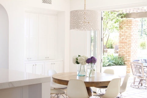 White Drum Chandelier