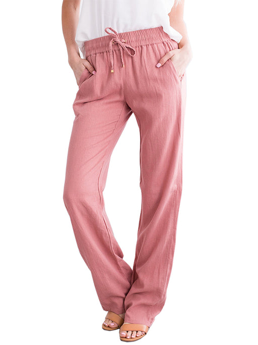 Chellysun Women Seaside Linen Pants