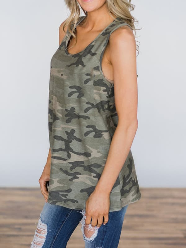 Chellysun Casual Camouflage Summer Tank Tops