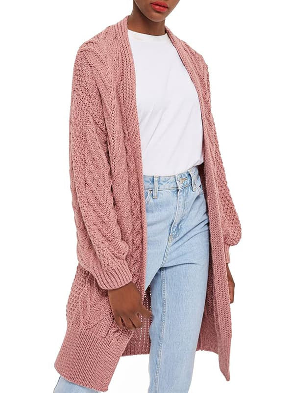 Chellysun Women Long Open Front Cardigan