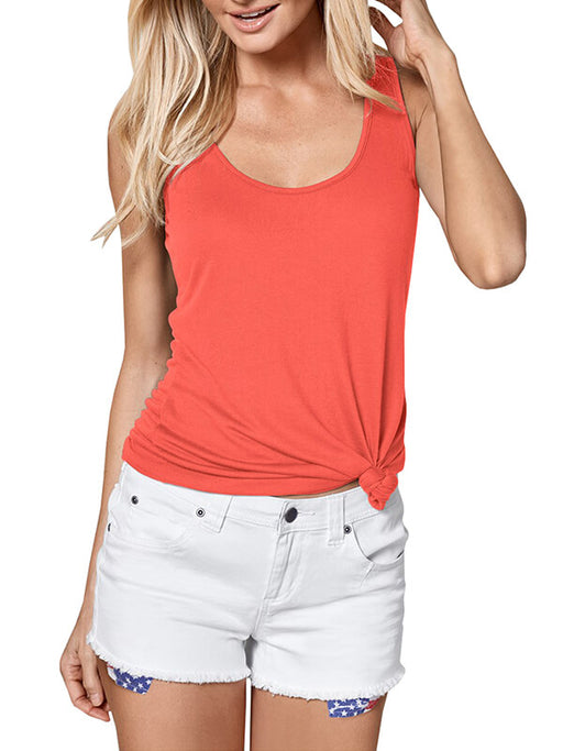 Chellysun Summer Solid Color Tank Top