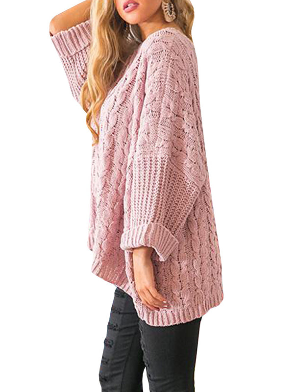 Chellysun Loose Cable Knit Sweater