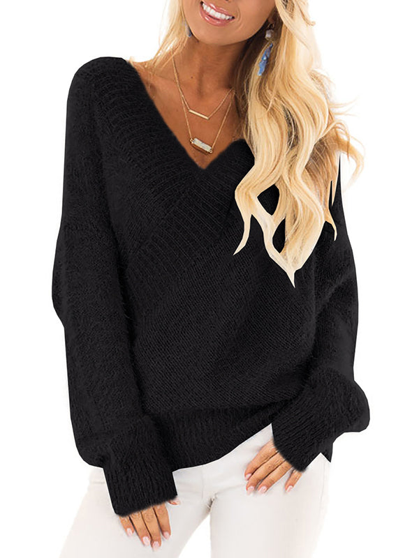 Chellysun Back Lace Up Sweater