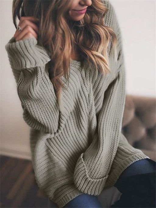 Chellysun Fall Knit Off The Shoulder Pullover